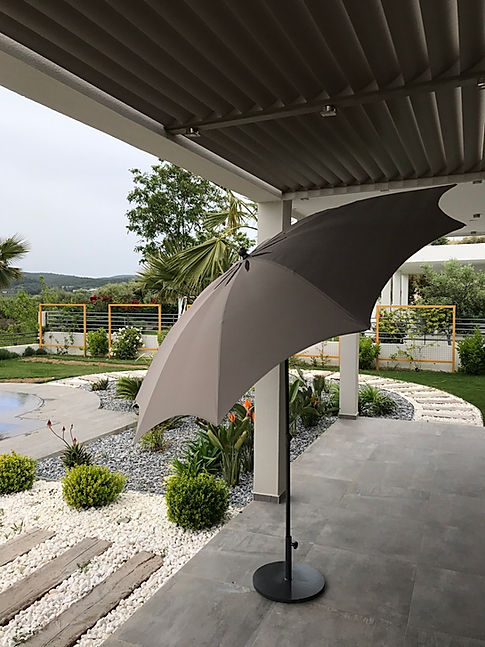 yuvarlak bahçe şemsiyesi, dekoratif bahçe şemsiyesi