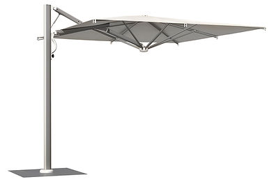 lüks teras şemsiyeleri, yandan gövdelibahçe şemsiyeleri