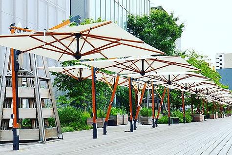yandan direkli güneş şemsiyeleri, yandan direkli teras şemsiyeleri