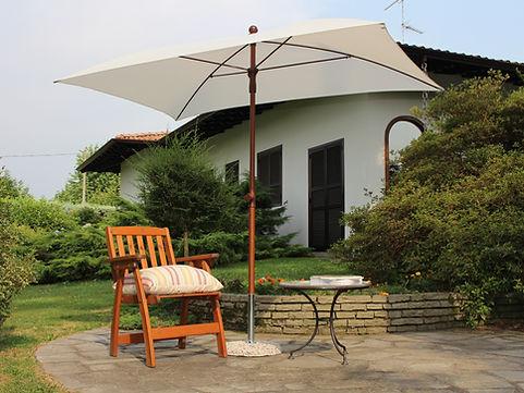 ahşap görünümlü aluminyum şemsiye, güneş şemsiyesi