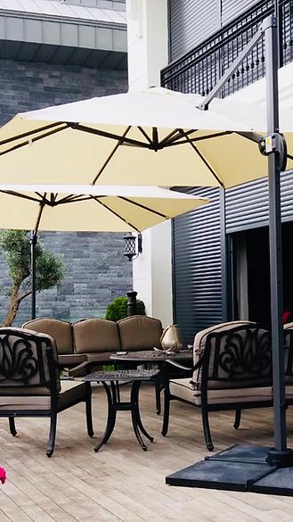 yandan gövdeli bahçe şemsiyeleri