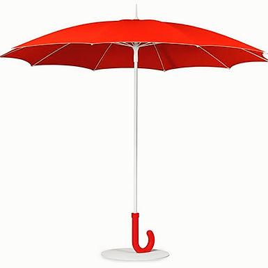 kırmızı bahçe şemsiyesi, kırmızı güneş şemsiyesi
