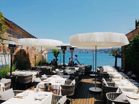 azur restaurant şemsiye, azur yeniköy şemsiye