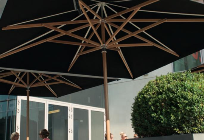 ahşap teras şemsiyesi, iroko teras şemsiyesi