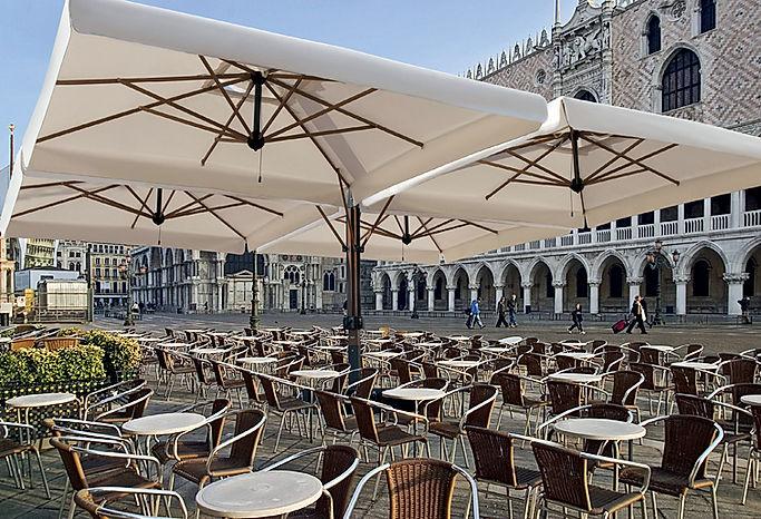 büyük teras şemsiyeleri, 6 metre, 7 metre şemsiye