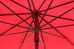 kırmızı güneş şemsiyesi, maffei şemsiye, laracocept, dekoratif bahçe şemsiyesi, teras şemsiyeleri