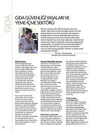 Gıda güvenliği yasaları ve yeme içme sektörü, gastronomi dergisi