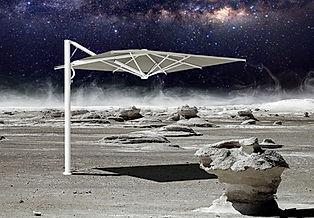 büyük güneş şemsiyeleri, yandan açılan şemsiye, yandan açılan bahçe şemsiyesi