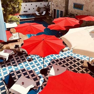 dekoratif otel şemsiyeleri