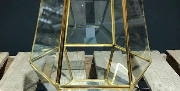 Gold & Glass Candleholder/Planter
