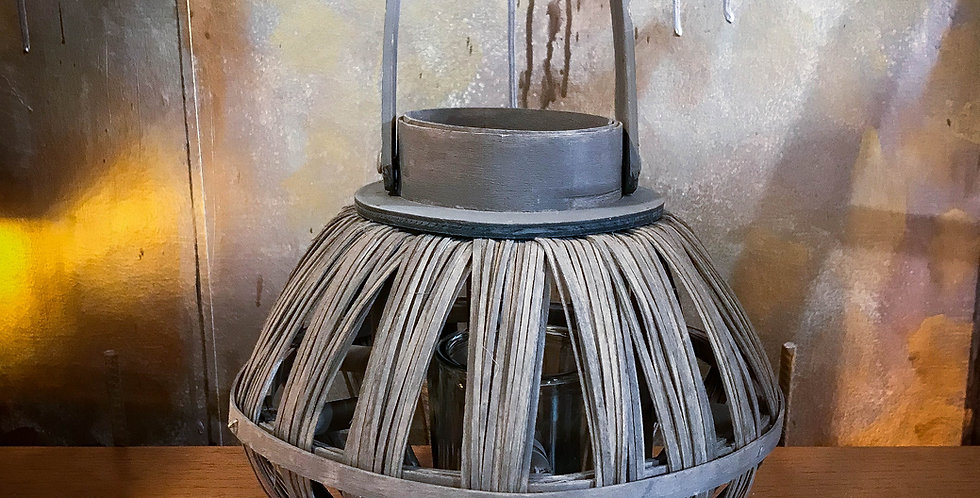 coffee wood lantern