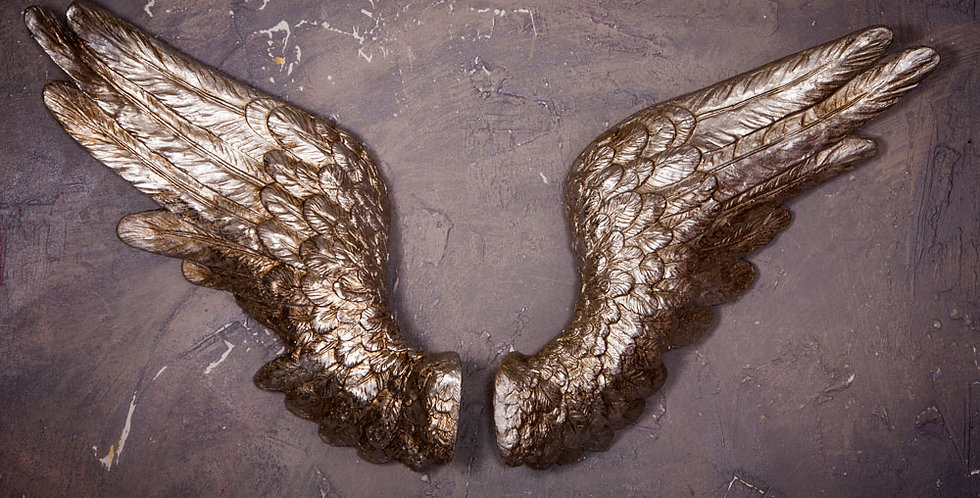 Pair of Silver Angel Wings