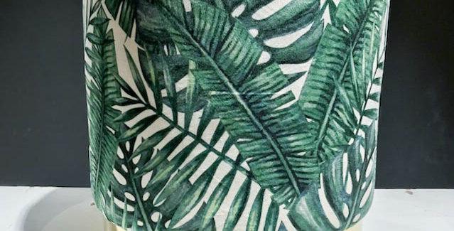 Tropical Green Leaf Stool