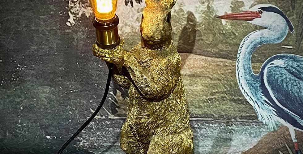 Gold Rabbit Table Lamp