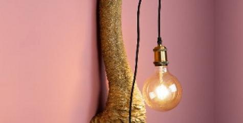 Gold Ostrich Wall Lamp