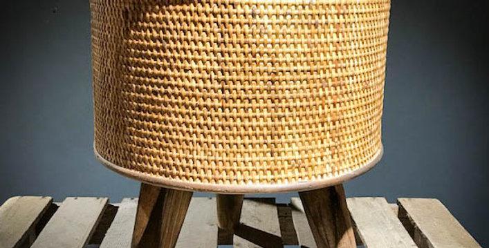 Canya Dark Wood Side Table