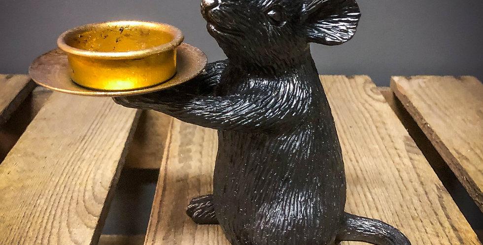 Right Black Mouse Tea Light Holder