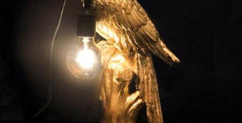 Gold Parrot lamp