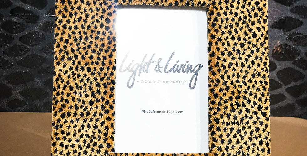 Leopard Print Photo Frame