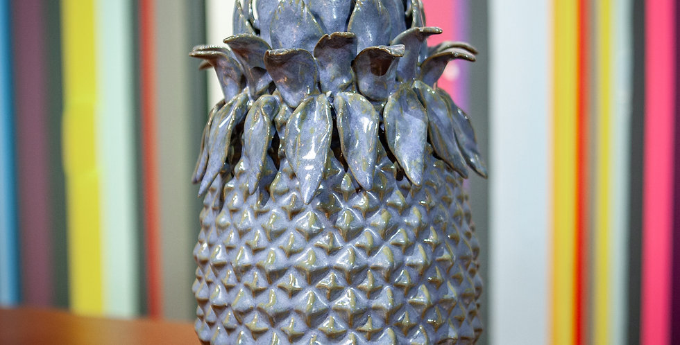 Blue Glaze Pineapple Vase