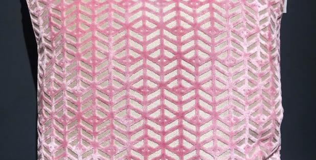 Pink and Beige Cut Cushion
