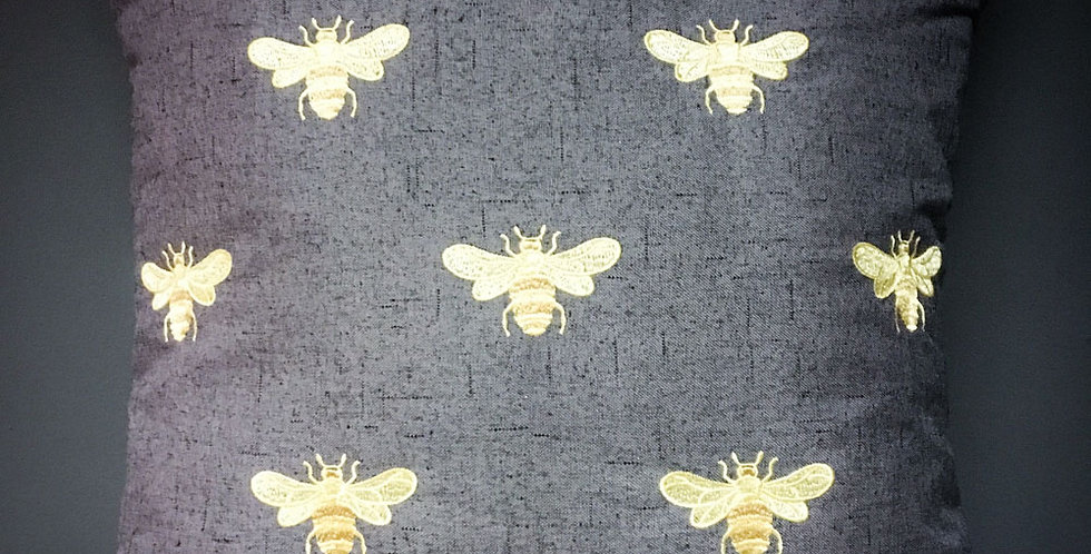 Gold Bee cushion