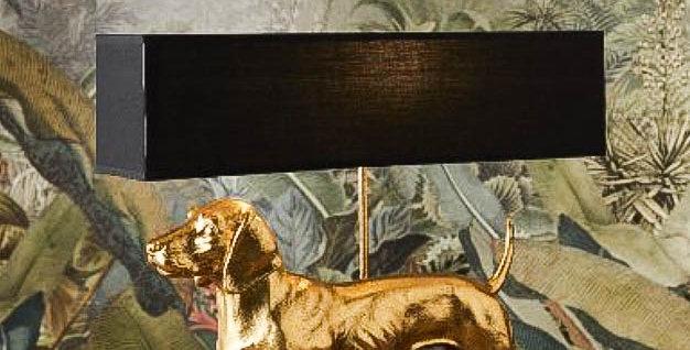 Gold/Silver Dachshund Lamp