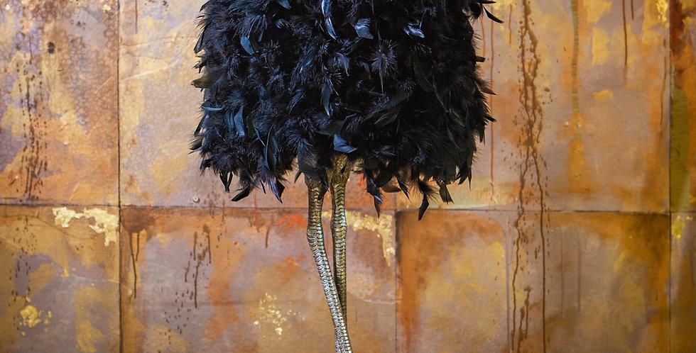 Black Feather Bird Leg Lamp