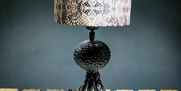 Black Octopus Lamp With Snake Shade