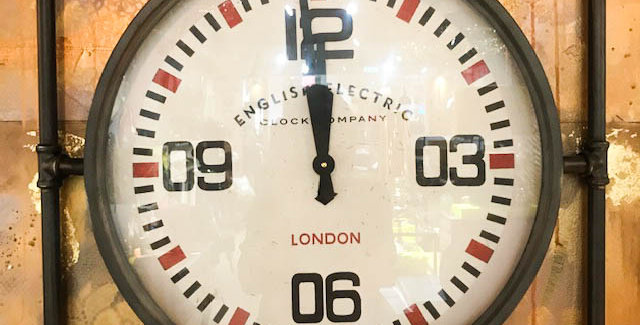 Square Pipe Framed Wall Clock