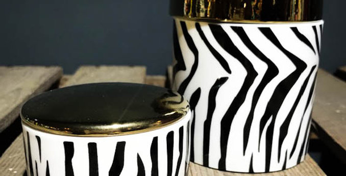 Small/Large Zebra Print Jewellery Box