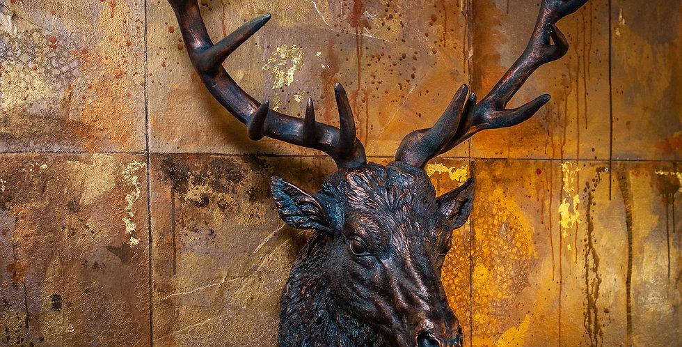 Bronze Stags Head