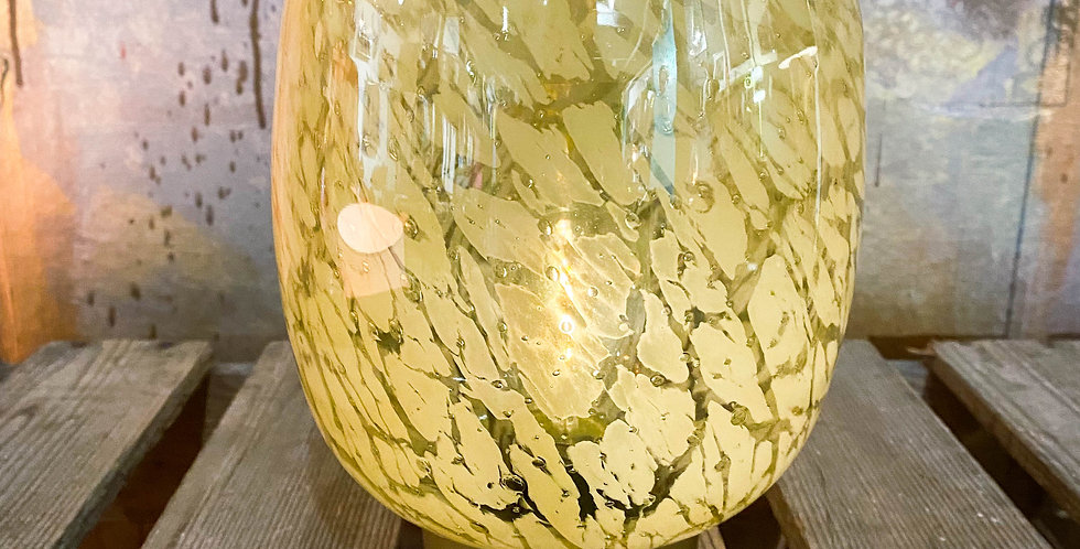Yellow and Bronze LED Battery Table Lamp