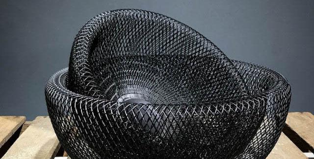 Small/Large Black Metal Bowl