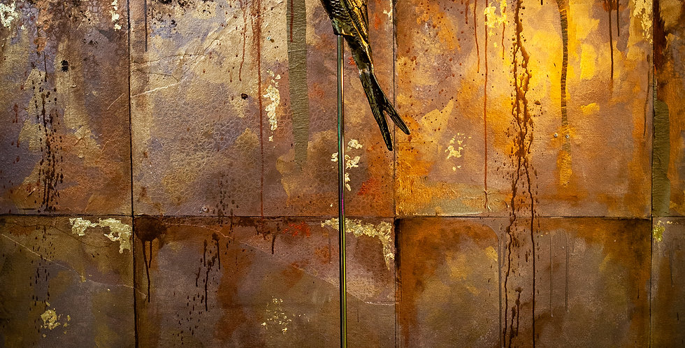 Tall Gold Parrot
