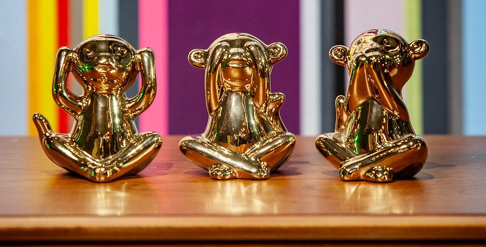 Mini Gold See No Evil Monkey