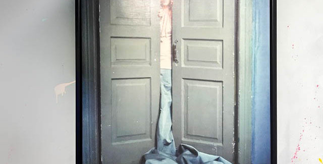Lady Behind The Door Framed Picture