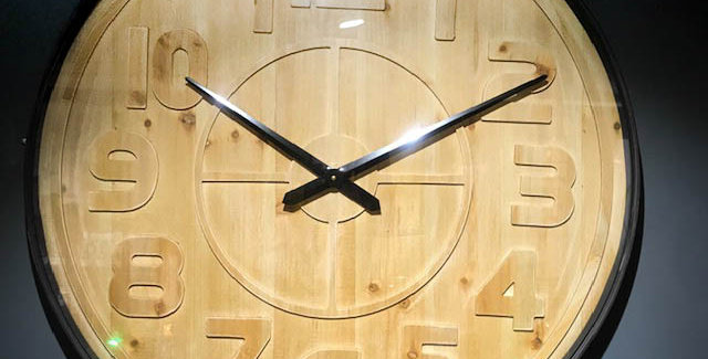 Wood Logan Clock