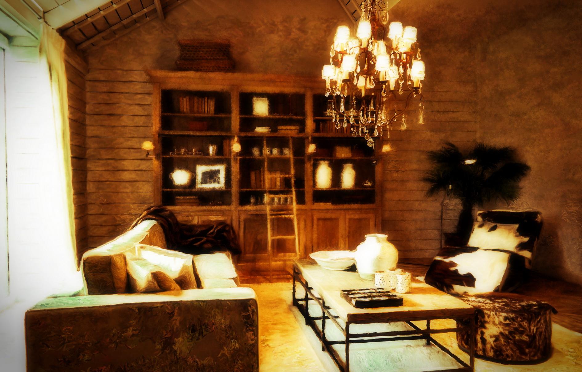 Flamant interiors lifestyle, schilderij door Laure Van De Meele