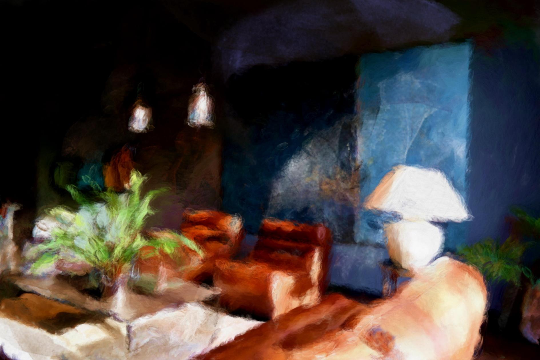 Flamant lifestyle, schilderij door Laure Van De Meele