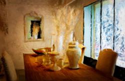 Wintertijd schilderij door Laure Van De Meele vanuit inspiratie Flamant interiors