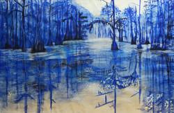 Laure Van De Meele Aquarelle bleue