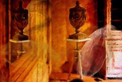 De elegantie van een vaas bij Flamant Interiors, geschilderd door Laure Van De Meele