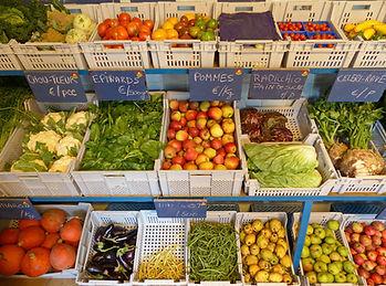 Magasin de la ferme de la Chapelette, grand choix de légumes de saison, belgique