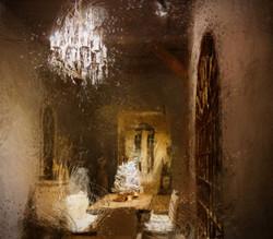 Het_restaurant,_een_schilderij_door_Laure_Van_De_Meele_geïnspireerd_door_Flamant_Interiors