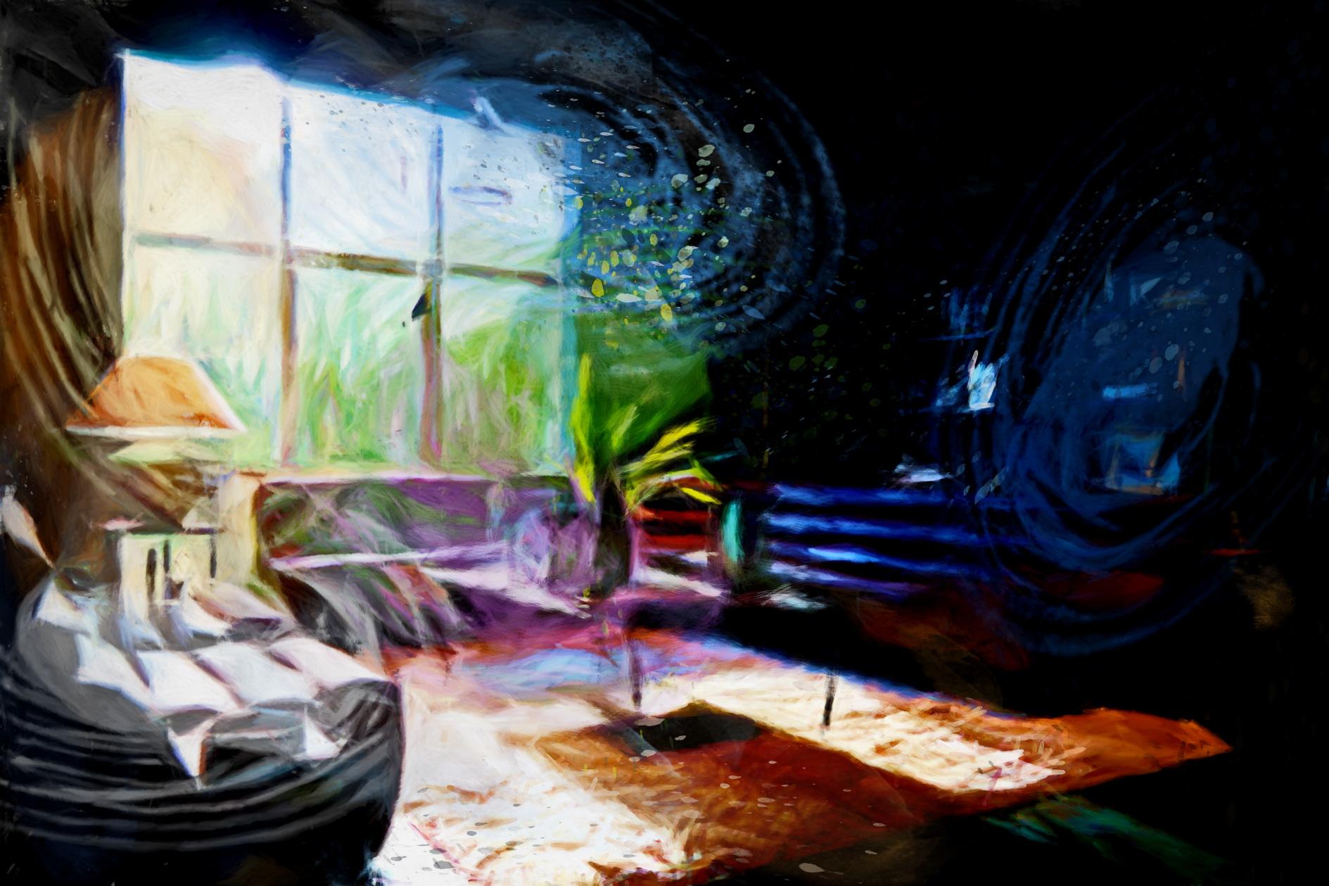 Art de vivre et inspiration, un tableau de l'artiste Laure Van De Meele, en visite chez Flamant Inte