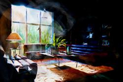 Lifestyle en inspiratie, een schilderen van de kunstenaar Laure Van De Meele, op bezok bij Flamant I