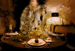 Magic Flamant tafeldecoratie door de kunstenaar  Laure Van De Meele
