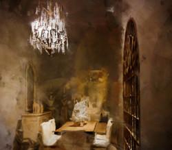 Sfeer, een schilderij door Laure Van De Meele, inspiratie Flamant Home Interiors