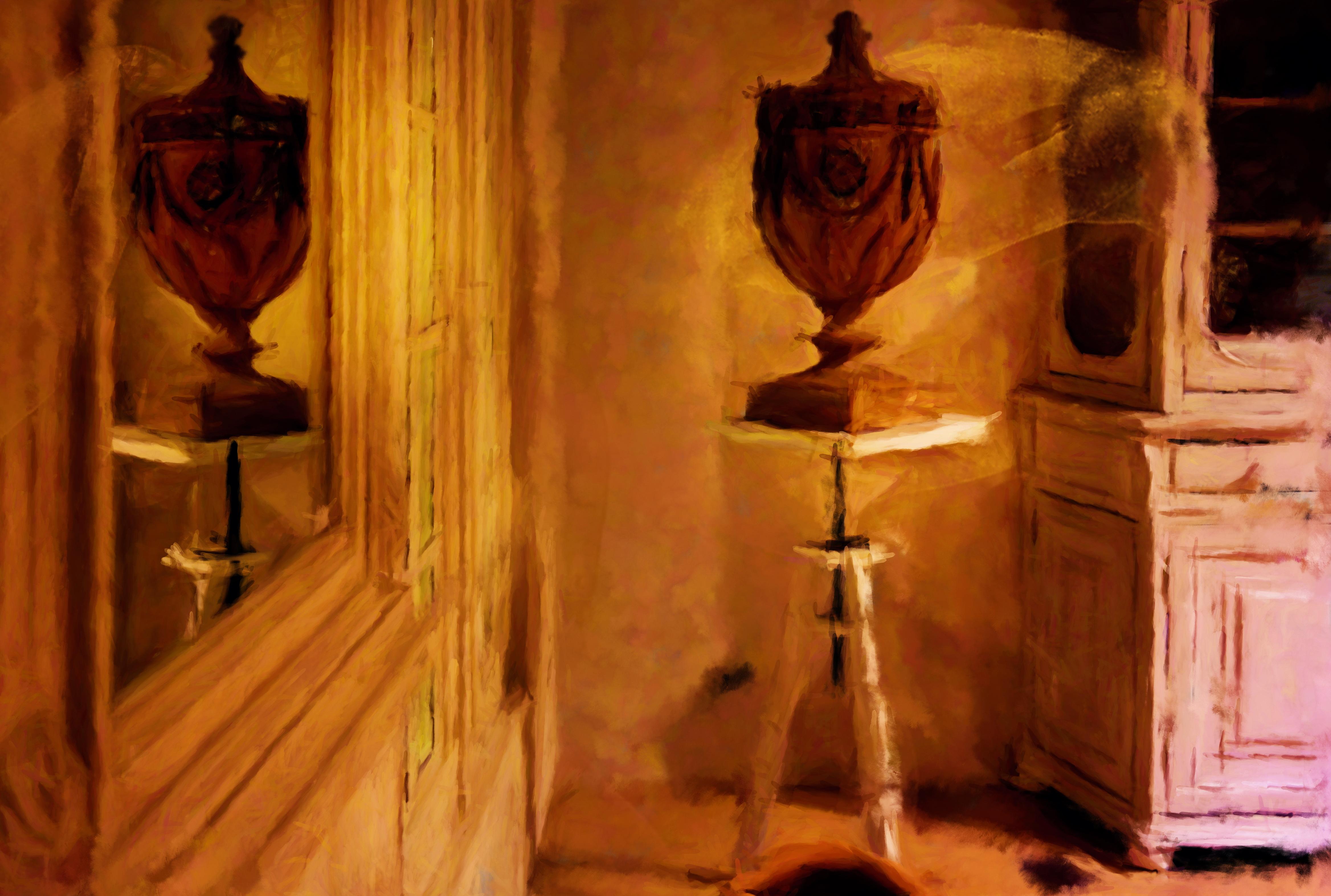 Harmonie et le vase de Flamant Interiors, peints par Laure Van De Meele